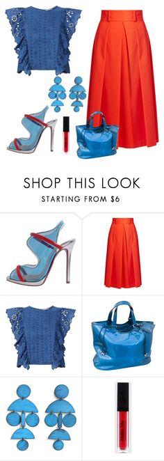 """""""Unusual Shoes contest"""" by empathetic ❤ liked on Polyvore featuring Christian Louboutin, TIBI, Sea, New York, Louis Vuitton and Annie Costello Brown"""
