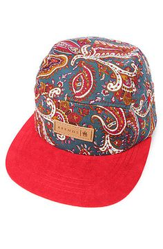 The Jerusalema Five Panel Hat in Red Print by AFENDS d81c0af50ca1