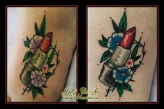 69d0804df lipstick traditional colour tattoo matching friends red black green blue  purple foot tattoo kamloops dolly's skin