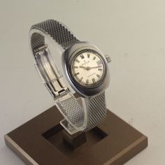 Vintage EDOX women Watch , Stainless Steel, Red Seconds Arm, Hand Winding - WatchRevive