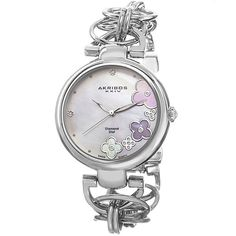 BARGAIN Women's Akribos XXIV Diamond Flower Watch JUST £39.98 At GROUPON - Gratisfaction UK Flash Bargains #flashbargains #gratwatches