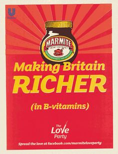 Marmite Election - 'love poster' by DDB UK, via Flickr