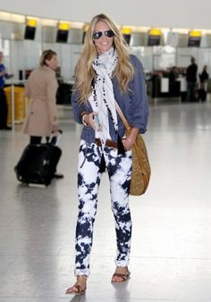 Elle Macpherson in Tie Dye Jeans