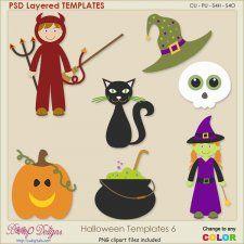 Halloween Layered TEMPLATES 6 cudigitals.com cu commercial scrap scrapbook digital graphics#digitalscrapbooking #photoshop #digiscrap