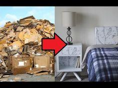 DIY Table Organizer TUTORIAL/ Recycled Cardboard Organizer - YouTube