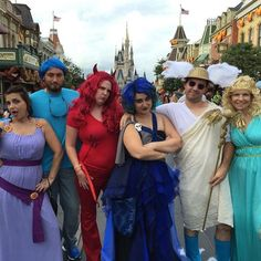 100 Awesome Group Halloween Costume Ideas for 2015 via Brit + Co Goddess Halloween Costume, Group Halloween Costumes, Group Costumes, Halloween Cosplay, Diy Costumes, Costume Ideas, Greek God Costume, Greek Gods And Goddesses, Dress Up Day