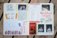 Second Year Anniversary Journaling Pages