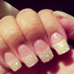 Wedding nails - but shorter!