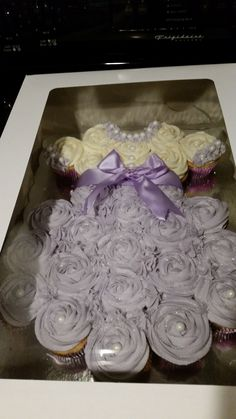 Baby Girl Dress pull apart cupcake cake. Great for Baby Shower!