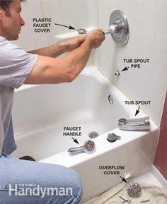 Kingston Brass Chrome Templeton Tub Shower Combination Faucet - Mobile home bathtub faucet for small bathroom ideas