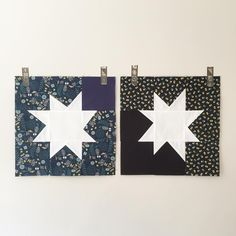 July's blocks for the Wish Circle of #dogoodstitches. Wonky star block pattern by @owensolivia.