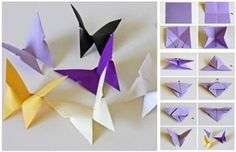 Butterfly Chandelier Mobile DIY Tutorials - origami butterfly