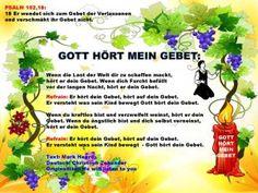 GOTT HÖRT MEIN GEBET – PSALM 102,18:   lebens-werter-leben.com