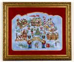 Santa's North Pole  Ref: GLP07-2944   242x180 stitches  uses 106 colors & Mill Hill Petite beads