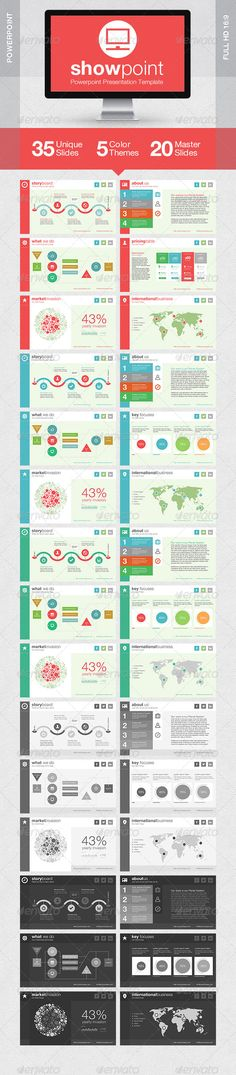 Presentation Templates - ShowPoint Powerpoint Presentation Template | GraphicRiver, presentation, color pattern, design,