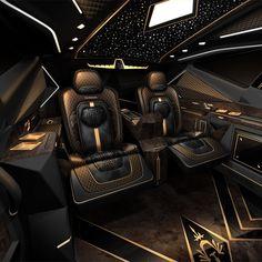Karlmann King: Das teuerste SUV der Welt ist im Herzen ein Ford - # Custom Car Interior, Luxury Interior, Interior Design, Interior Ideas, Design Design, Ford F550, Luxury Van, Men In Black, Black King