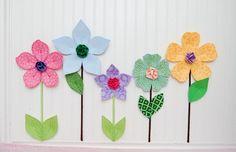 custom flower garden. fabric wall flowers. by leilasflowergarden, $27.00