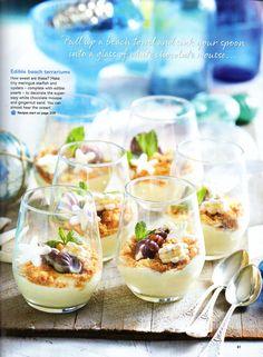 Edible Beach Terrarium Desserts