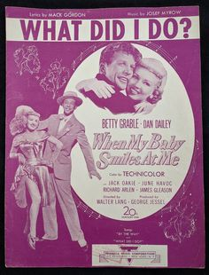 What Did I Do Vintage Sheet Music 1948 Betty Grable and Dan | Etsy