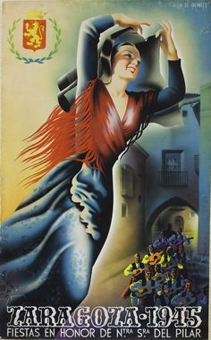 Cartel Pilar 1945 Titulo: A la de infantes