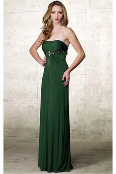 Long Floor-length Strapless Chiffon Prom Dresses
