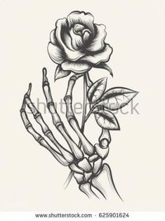 Latest Totally Free hand holding rose drawing Style Within this session, we're going to have a look at the way to draw your increased by together with pastels. Skeleton Hands Drawing, Skeleton Hand Tattoo, Drawing Hands, Skeleton Art, Skeleton Bones, Floral Tattoo Design, Flower Tattoo Designs, Flower Tattoos, Art Drawings Sketches
