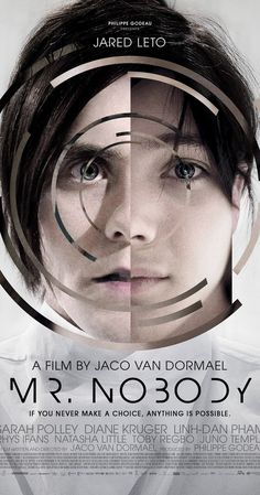 Directed by Jaco Van Dormael.  With Jared Leto, Sarah Polley, Diane Kruger, Linh Dan Pham. A boy stands on a station platform as a train is about to leave. Should he go with his mother or stay with his father? Infinite possibilities arise from this decision. As long as he doesn't choose, anything is possible.