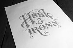 HOOK & IRONS CO. by Ginger Monkey, via Behance
