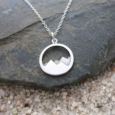 Mountain Necklace, Sterling Silver Mountain Range Pendant, Nature Jewelry, Simple Necklace #HandmadeSilverJewelry