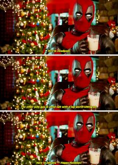 Happy Holdiays, from the one and only, Deadpool