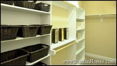 baskets and dual shelving