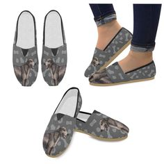 #TeeAmazing - #e-joyer Irish Wolfhound Dog Women's Casual Shoes - AdoreWe.com