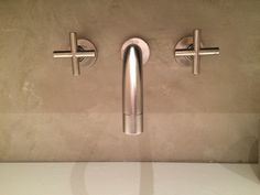 Bathroom in Heemstede, walls from luxury- walls.com (beal mortex). Taps from Dornbracht
