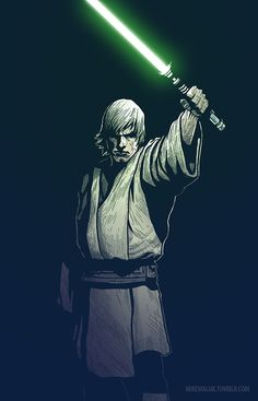 I don't know what it is exactly about this that I like so much, maybe the grit of the look? Maybe the traditional look of the Jedi? Maybe the fact that it looks like he's lighting the dark with his lightsaber? Anyway, I think it does quite well at capturing my take on a struggling Jedi.