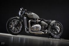 As custom bikes go, it's hard to top this Triumph Bonneville Bobber-Bodeux. Simply a head-turner no matter which way you look at it. Do you agree? Triumph Bobber Custom, Triumph Motorcycles, Custom Motorcycles, Custom Bikes, Indian Motorcycles, Bobber Bikes, Bobber Motorcycle, Bobber Chopper, Motorcycle Outfit