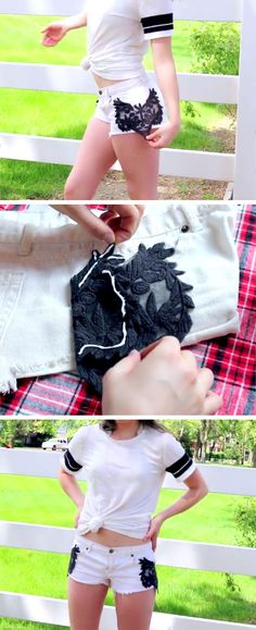 DIY Tumblr Shorts for Summer | 15 DIY Summer Clothes for Teens Tumblr | Easy Summer Fashion Ideas for Women to Make