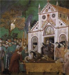 Giotto  St. Francis Mourned by St. Clare  1300  San Francesco, Upper Church, Assisi, Italy