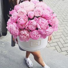 At Pineapple Street Designs we just love peonies! We find these beautiful peonies inspiring - incorporate these beautiful flowers as centerpieces for your special day Deco Floral, Arte Floral, Floral Design, My Flower, Fresh Flowers, Beautiful Flowers, Pink Flowers, Bouquet Flowers, Draw Flowers