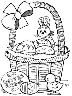 Easter Coloring Pages For Kids Free Printable Eggs Bunnies Baskets And More These Will Keep The Happy Hours