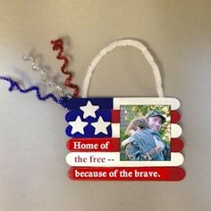 Patriotic Photo Frame for the family with a member who has served or is serving in our military forces.