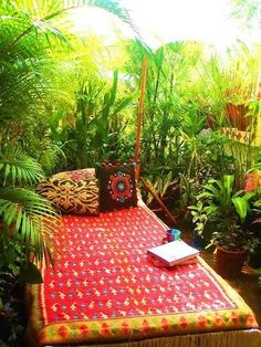 A jungle retreat with your favorite book.