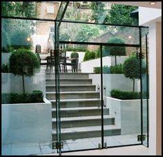The modern Glass Extension Cellar Conversion, Basement Conversion, Basement Entrance, Revit, Mad About The House, Glass Extension, Glass Structure, London House, Glass Boxes