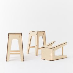 Plyroom - 'A' Stool Stackable Stool European Birch Ply