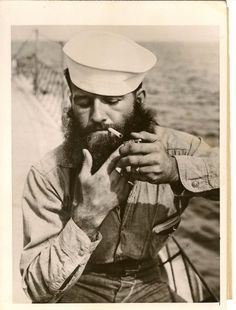 Sailor with a beard and a smoke.  There is nothing about this picture that I don't like.