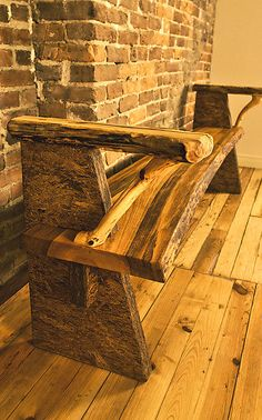 Fairview bench by Mark Tuttle: Wood Bench available at www.artfulhome.com