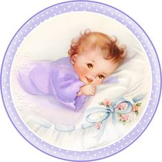 Cute Babies at Bed. Free Printable Cards, Toppers or Labels. Vintage Baby Pictures, Baby Images, Vintage Images, Baby Illustration, Illustrations, Dibujos Baby Shower, Free Printable Cards, Baby Scrapbook, Scrapbook Cards