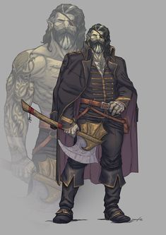 """""""Last week I got commissioned by this awesome character.now I want an half-orc char too! Fantasy Character Design, Character Design Inspiration, Character Concept, Character Art, Dungeons And Dragons Characters, Dnd Characters, Fantasy Characters, Dnd Orc, Orc Warrior"""