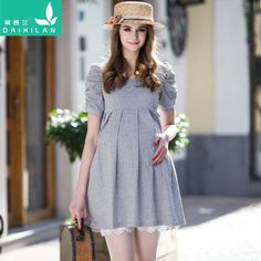 Offers High Quality Sweet Little Dot Cotton Maternity Dress, We have more styles for Maternity Dresses casualmaternity Maternity Work Clothes, Cute Maternity Dresses, Casual Maternity, Maternity Wear, Maternity Fashion, Dresses For Pregnant Women, Clothes For Women, Casual Dresses, Dresses For Work