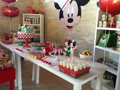 Mickey Mouse Pizza Party #mickeymouse #party