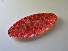 grayc glass | Handmade Fused Glass Art & Custom Glasswork »Coral Fountain Oval platter